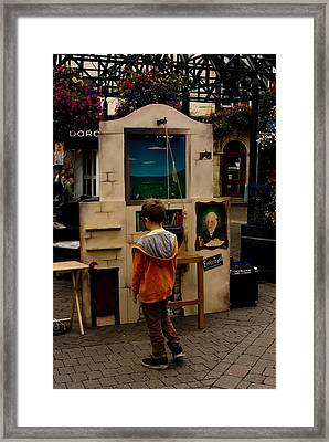 The Puppet Show Framed Print by Peter Jenkins