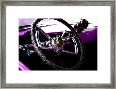 The Purple 1950 Mercury Framed Print by David Patterson