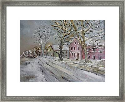 The Purple House Framed Print by Michel Croteau