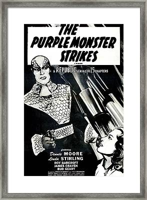 The Purple Monster Strikes, Aka, D-day Framed Print
