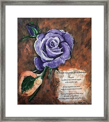 The Purple Rose Framed Print by Elisabeth Dubois