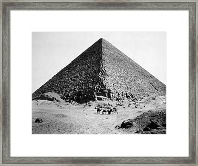 The Pyramid Of Cheops, Photograph By G Framed Print by Everett