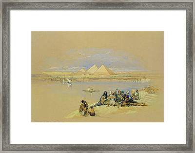 The Pyramids At Giza Near Cairo Framed Print