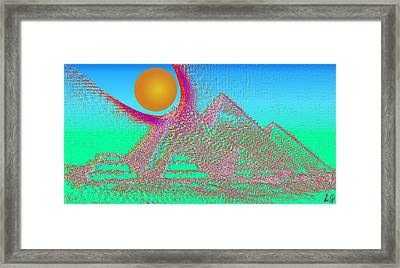 The Pyramids Framed Print by Helmut Rottler