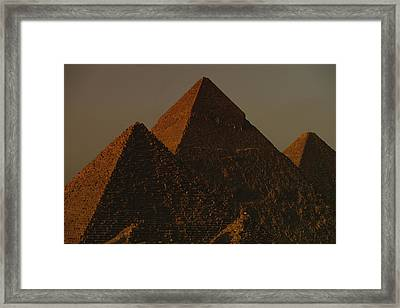 The Pyramids Of Giza In The Late Framed Print by Kenneth Garrett