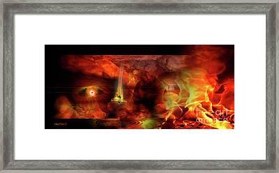 The Pyroman Framed Print by Bruno Santoro
