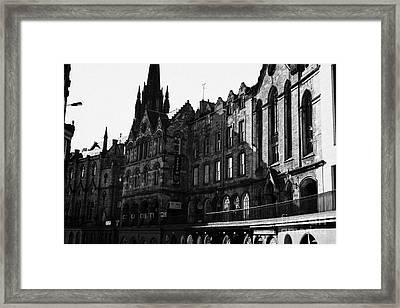 The Quaker Meeting House On Victoria Street Edinburgh Scotland Uk United Kingdom Framed Print