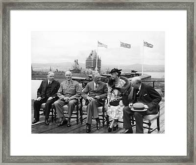 The Quebec Conference, Canadian Prime Framed Print by Everett
