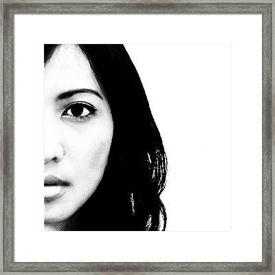 The Queen #bw #monochrome #self Framed Print