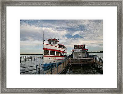 The Queen II At Dock Framed Print by Amelia Painter