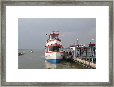 The Queen II Excursion Boat At Arnolds Park Framed Print by Amelia Painter