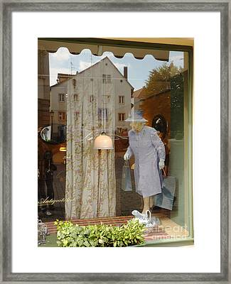 The Queen In A Showcase Framed Print