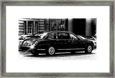 The Queen In Her Bentley Framed Print by Carrie OBrien Sibley