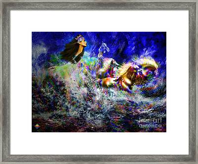 The Queen In Southern Sea Framed Print by Vidka Art