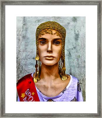 The Queen Of Bourbon Street Framed Print by Bill Cannon