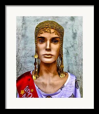 The Queen Of Bourbon Street Framed Prints