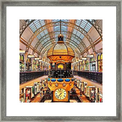 The Queen Victoria Building (or Qvb) Framed Print