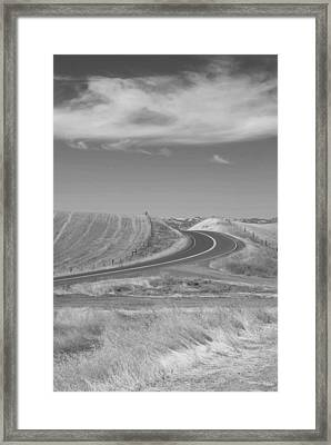 Framed Print featuring the photograph The Quiet Road by Kathleen Grace