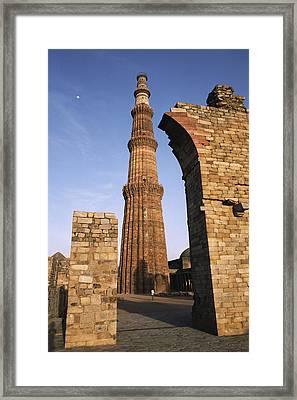 The Qutab Minar Tower, Built Framed Print by Gordon Wiltsie