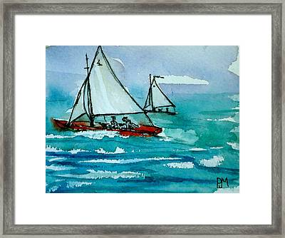 The Race Framed Print by Pete Maier