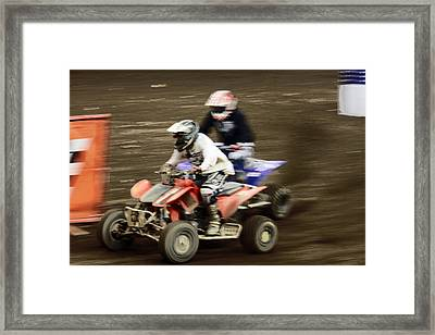 The Race To The Finish Line Framed Print by Karol Livote