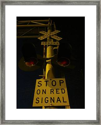 The Railroad Sentry Framed Print by Guy Ricketts