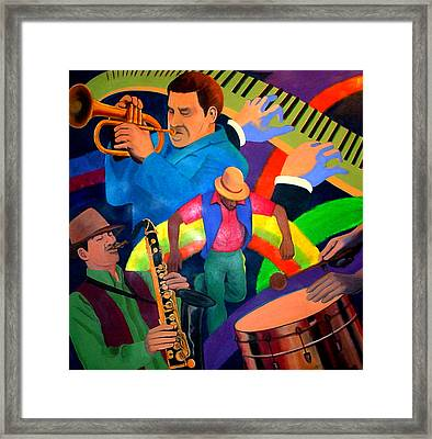 The Rainbow Dancer Framed Print by John Crespo Estrella