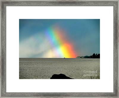The Rainbow's Edge Framed Print