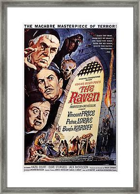 The Raven, Peter Lorre, Boris Karloff Framed Print by Everett