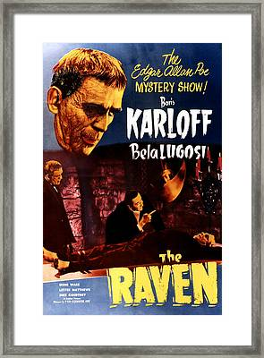 The Raven, Top Left Boris Karloff Framed Print