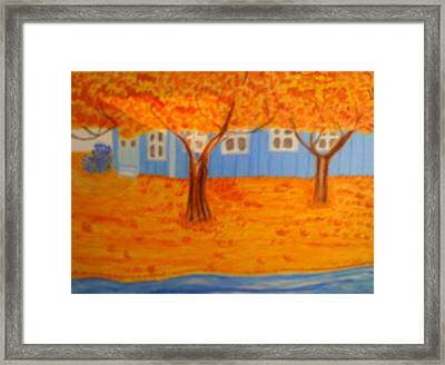 The Rays On Autumn Framed Print by Annette Stovall