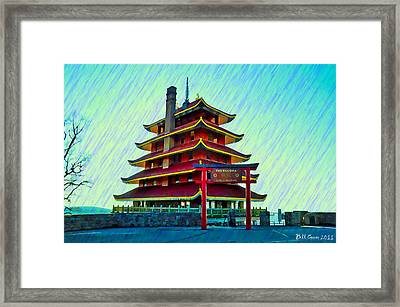 The Reading Pagoda Framed Print by Bill Cannon