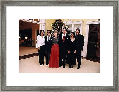 The Reagan Family Christmas Portrait Framed Print by Everett