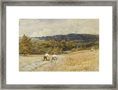 The Reapers Framed Print by Helen Allingham
