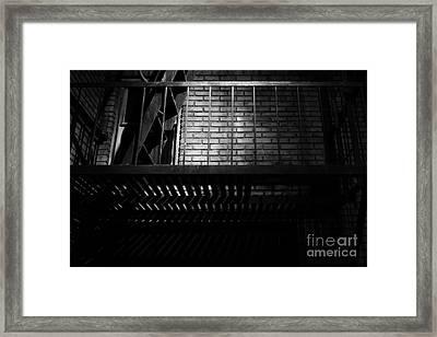 The Rear Window - Bw - 7d17463 Framed Print