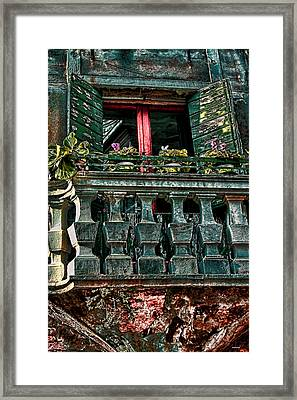 The Rear Window Venice Italy Framed Print by Tom Prendergast