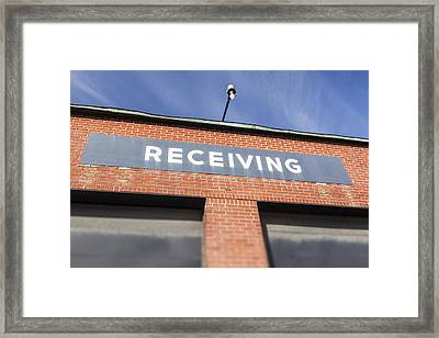 The Receiving Loading Bay In An Framed Print by Bryan Mullennix