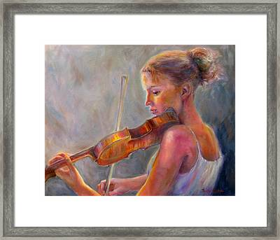 The Recital Framed Print