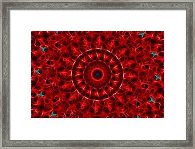 The Red Abyss Framed Print