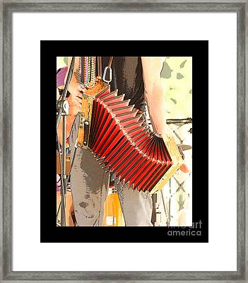The Red Accordian Framed Print by Margie Avellino