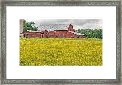 The Red Barn Framed Print by JC Findley