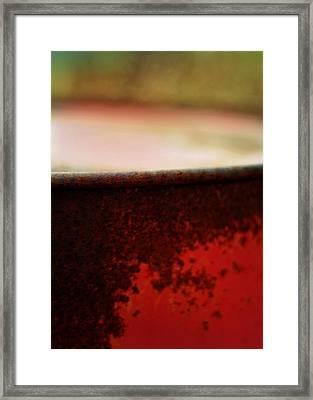 The Red Barrel Framed Print