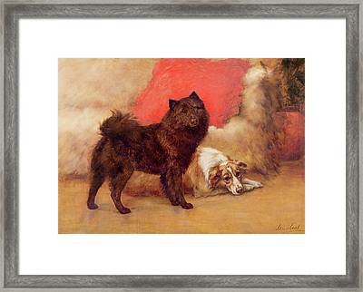 The Red Cushion Framed Print by Maud Earl