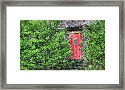 The Red Door Framed Print by JC Findley