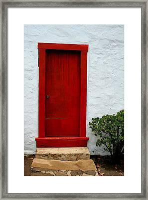 The Red Door Framed Print by Karon Melillo DeVega