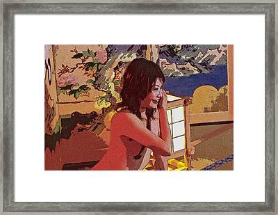 The Red Girl Framed Print