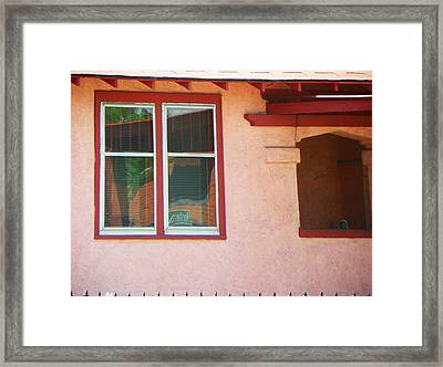 The Red House Framed Print by Lenore Senior