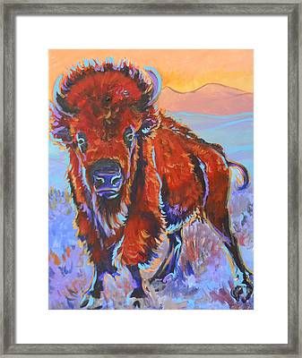 Framed Print featuring the painting The Red King by Jenn Cunningham