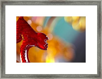 The Red Monkey Framed Print by Greg Kopriva