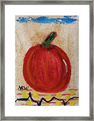 The Red Pumpkin Framed Print